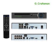 XMeye 4ch 8ch 5MP POE NVR yüz tanıma H.265 + Onvif ağ vİdeo kaydedİcİ 1 HDD 24/7 kayıt IP kamera onvif P2P sistemi