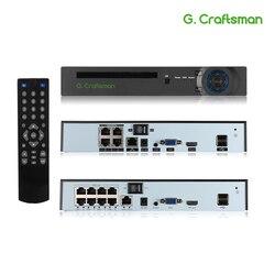Xmeye 4ch 8ch 5mp poe nvr reconhecimento facial h.265 + onvif rede gravador de vídeo 1 hdd 24/7 gravação ip câmera onvif p2p sistema