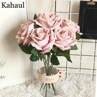 30cm Artificial rosas rama con flores boda inicio decoración de la tela de franela Linda Rosa Flores artesanía decoración de la fiesta