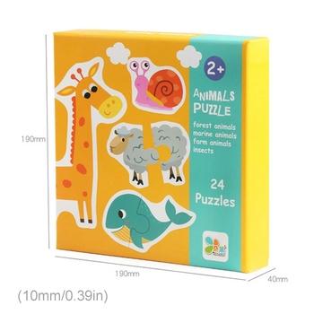 Dzieci dzieci transport zwierząt transport owoce pasujące puzzle drewniane układanki XX9E tanie i dobre opinie SRWRGTE CN (pochodzenie) 2-4 lat Chiny certyfikat (3C) Wooden Puzzles
