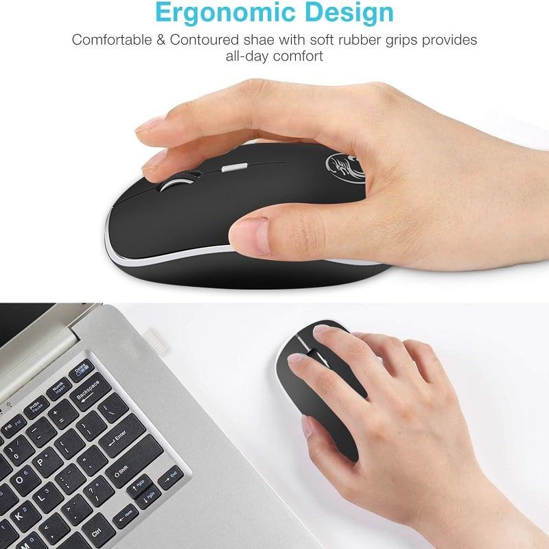 Ergonomic Mouse Wireless Mouse Computer Mouse PC USB Optical 2.4Ghz 1600 DPI Silent Mause Mini Noiseless Mice For PC Laptop Mac 3