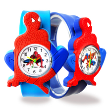 Free Shipping Spiderman Watch Children Toy Gift High Quality Quartz Kids