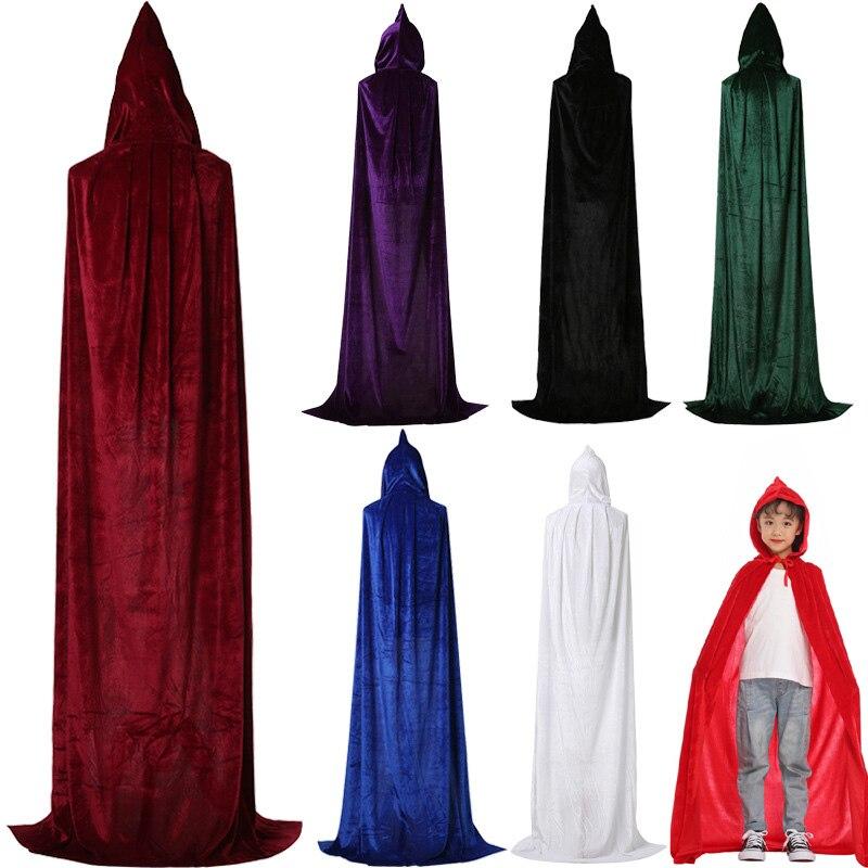 Adult Mens Phantom Dracula Cape Black Velvet-Like Halloween Costume Accessory