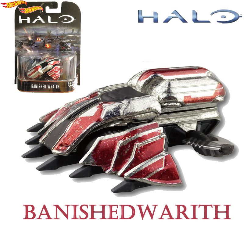 Hot Wheels Car Halo War Series 1/64 Classic Movie Game Theme Car Model Collection BANISHED WARITH Boys Toys DMC55