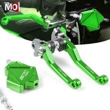Cable-System Stunt Brake-Clutch-Lever Dirtbike 2005-2008 Motocross Cnc Kawasaki Kx250