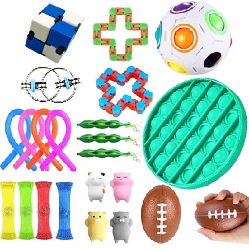 Непоседа игрушки Антистресс игрушка набор тянущиеся струны сетка Мраморный Рельеф подарок для взрослых девочек Детские сенсорные антистр...
