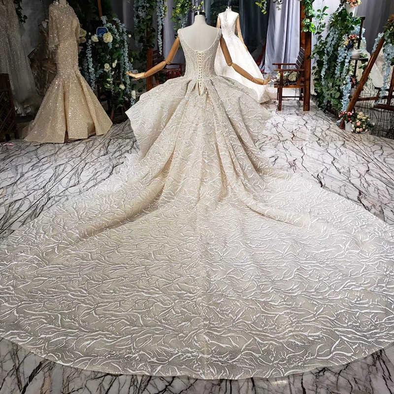HTL692 vestido de fiesta vestido de novia Catedral tren encaje apliques plisado sin mangas vestido de novia boho vestidos de noche vintage