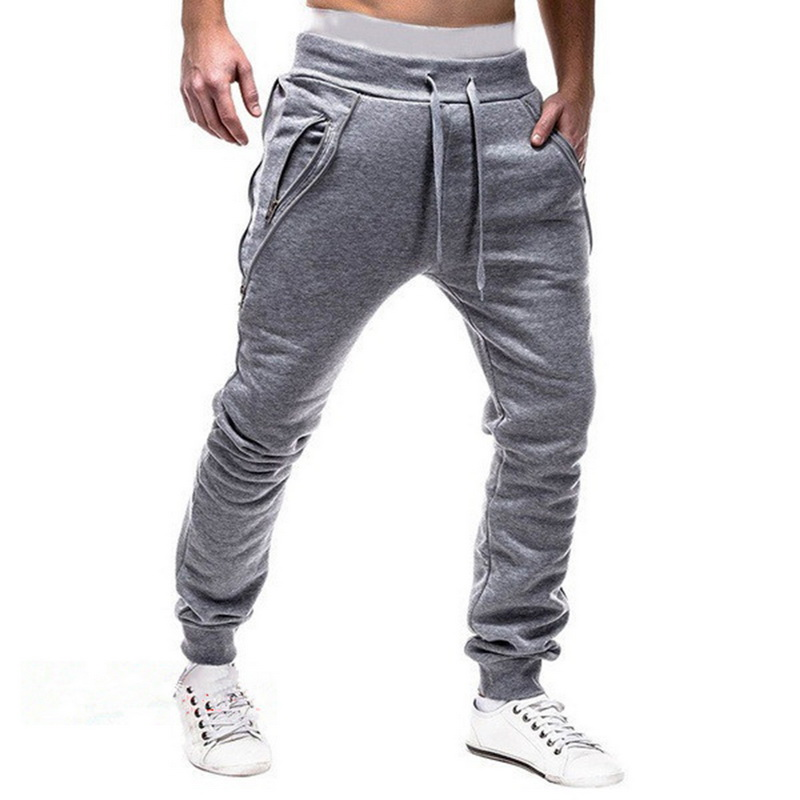 Men Fashion Slim Sweatpants 2019New Men Hiphop Casual Elastic Jogging Pants Sport Solid Color Trouser Spring Autumn Casual Pants