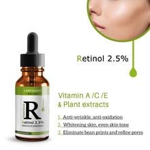 Retinol yüz serumu kırışıklık karşıtı koyu lekeleri kaldır yüz özü Anti-Aging beyazlatma yüz cilt bakımı serumu