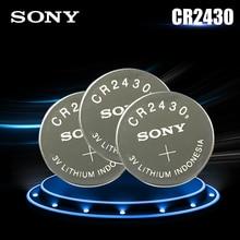 3 шт. оригинальный Sony CR2430 CR 2430 DL2430 BR2430 KL2430 3 В литиевая батарея для часов слуховые аппараты часы игрушка кнопочный сотовый монета
