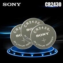 3 pçs original sony cr2430 cr 2430 dl2430 br2430 kl2430 3v bateria de lítio para assistir aparelhos auditivos relógios brinquedo botão celular moeda