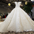Hot 2019 Vestido De Noiva Ivory And Champagne Off Shoulder Sweetheart Ball Gown Lace Up Wedding Dresses Long Train