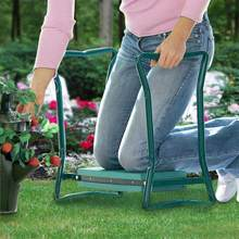 Portable Foldable Knee Protector Garden Seat Stool Bench with Soft Kneeling Pad(China)