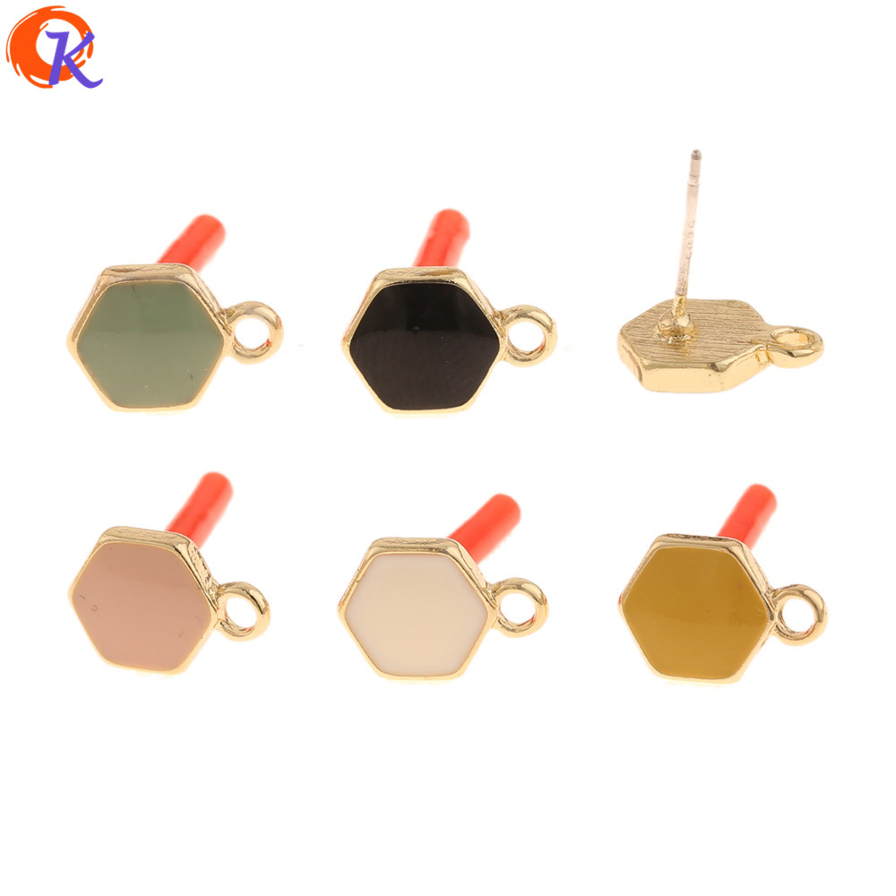 Cordial Design 100Pcs 9*12MM Jewelry Accessories/Hand Made/Paint Effect/Earrings Stud/Soft Pin/DIY Making/Earring Findings