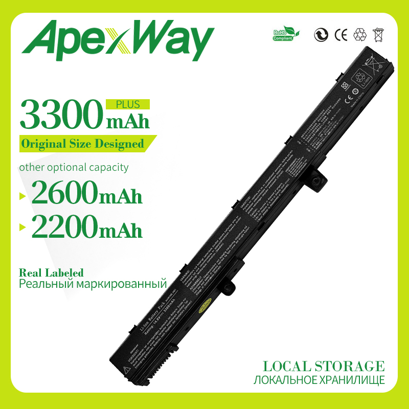 Apexway Laptop Battery For ASUS A41N1308 A31N1319 X551M X551C X451C X451CA X551CA 0B110-00250100