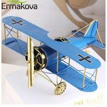 ERMAKOVA Retro airplane model metal handicraft wrought iron