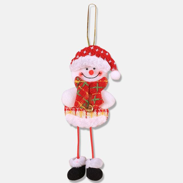2019 New Small dolls Christmas tree decorations pendant Christmas day children's small gifts hanging lanyard dolls 18