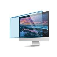 Protector de pantalla de bloqueo de luz azul colgante, película de protección ocular Anti-UV de alta transmisión para Monitor de escritorio de 26-27 pulgadas