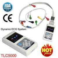 Máquina de ECG dinámica portátil TLC5000 EKG Holter 12, Analizador de plomo 24 h, Monitor electrocardiógrafo, cuidado de la salud + Software de PC