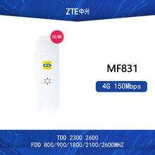 Разблокированный ключ zte MF831 4G 150 Мбит/с LTE LTE-FDD 800/900/1800/2600/2100MHzTDD2300/2600 МГц Поддержка тестового программного обеспечения: cd, Dingli CXT