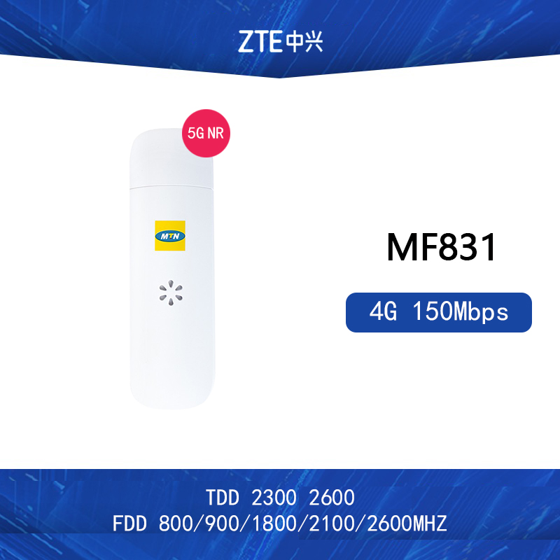 Débloqué ZTE MF831 4G 150Mbps LTE dongle LTE-FDD 800/900/1800/2600/2100MHzTDD2300/2600MHZ Support logiciel de test: CDS, Dingli CXT