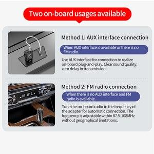 Image 3 - Bluetooth 5.0 Receiver Transmitter LED Car FM Modulator Card Reader 3.5mm AUX Jack RCA USB Wireless Audio Adapter Handsfree Mic