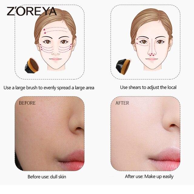 Zoreya Foundation Makeup Brush Flat Top Kabuki Hexagon Face Blush Powder Foundation Brush for Cream or Flawless-Powder Cosmetics 4