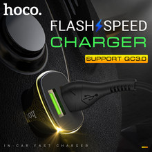 Hoco dual usb car charger qc3.0 fast ชาร์จในรถซ็อกเก็ต android charger quick charge 3.0 2.4A โทรศัพท์แบบพกพา charger(China)