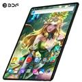 BDF Update 10 Zoll Tablet Pc 4G Anruf 8 GB/128 GB Dual SIM Dual Kamera Android 9.0 zehn Core Karte WiFi Bluetoot FM Tablet 10,1