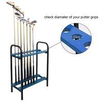 Crestgolf 18 Holes Golf Club Organizers Golf Clubs Display Shelf Golf Driver Rack Golf Training Aids Blue, Metal