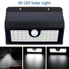 Outdoor LED Solar Light 45 LED Solar Lamp Power PIR Motion Sensor Wall Light with 3 Modes Light for Garden / Yard / Driveway lumiparty new pir infrared body motion sensor solar power panel outdoor led wall yard garden light lamp for garden supplies