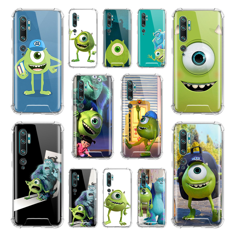 Mike Wazowski Case For Xiaomi Mi Note 10 9 CC9 9T Pro 5G CC9E A2 Lite X2 Airbag Anti Fall TPU Phone Coque