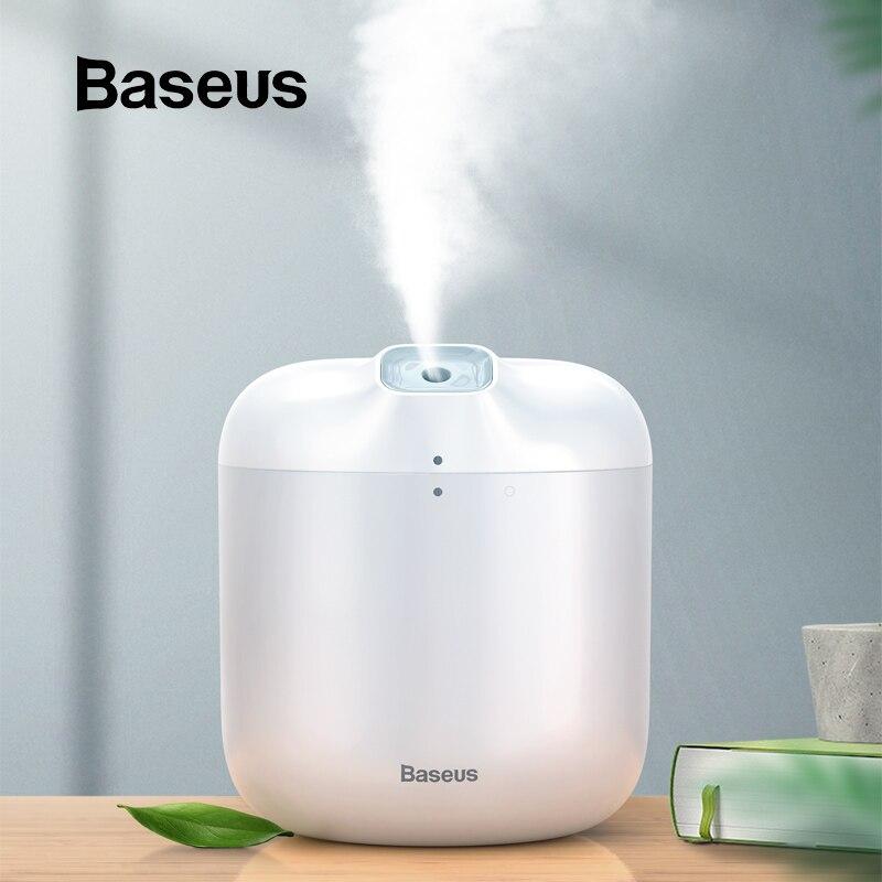 Difusor do aroma do umidificador de baseus difusor para o escritório em casa 600 ml grande capacidade umidificador de ar névoa criador fogger com luz led