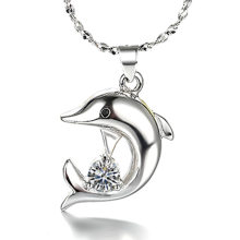 CAN2 hot sell jewelry 925 silver necklace for women and man 45cm chain 18k gold plated white gold necklace(China)