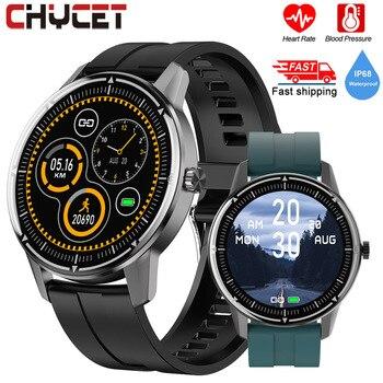 цена на Full Touch Round Smart Watch Men Women Heart Rate Fitness Tracker Smartwatch Ip68 Blood Pressure Oxygen Monitor Watch Smart 2020