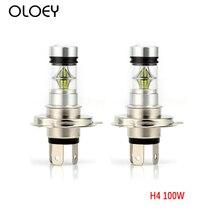 цена на Car Head Light Lamp Fog Light  Bulb H4 LED 6000K 100W 20LED Super Bright Headlight 12V Car Styling Lights Source free shipping