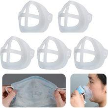 1/5/7/10 pièces Cool masque support protéger rouge à lèvres lavable réutilisable Silicone support masque visage Brasket support masque accessoires