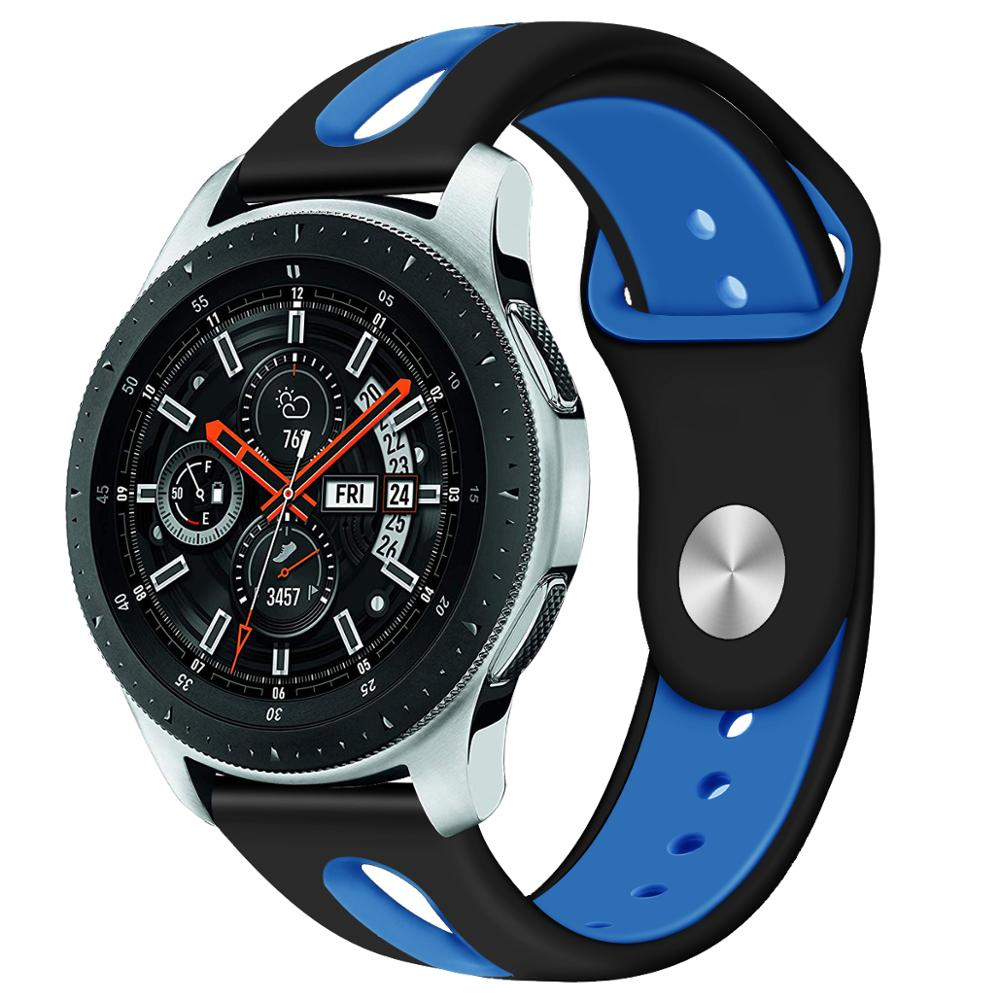22mm Watch Band For Samsung Galaxy Watch 46mm R800 Gear S3 Classic Huami Amazfit Watch Silicone Sport Watch Band Strap 91030