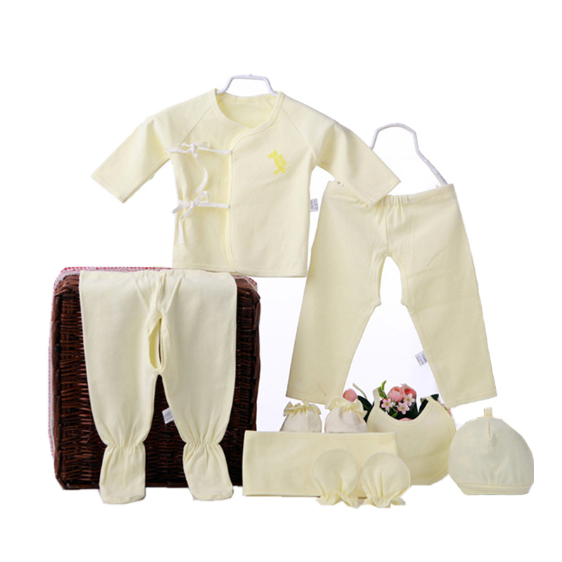 Spring And Autumn Newborn Baby Supplies Clothes For Babies Summer Pure Cotton Newborns Gift Set 0-3 BABY'S FIRST Month