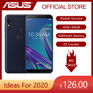 Image 1 - Global Versie Asus Zenfone Max Pro (M1)ZB602KL 4Gb 64Gb 6 Inch 4G Lte Smart Ontgrendeld Mobiele Telefoon Gezicht Id 5000Mah Android8.1