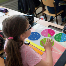 Math-Toy Magnetic-Fraction-Tiles Rainbow Learning-Counting Early-Education Round Diameter