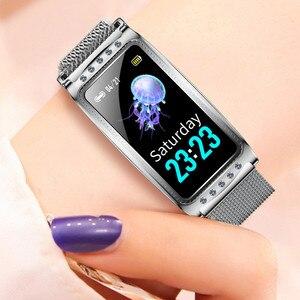 Image 5 - Smartwatch nouveau F28 Smart femme montre femmes dames Ip67 fréquence cardiaque pression artérielle oxygène connecté