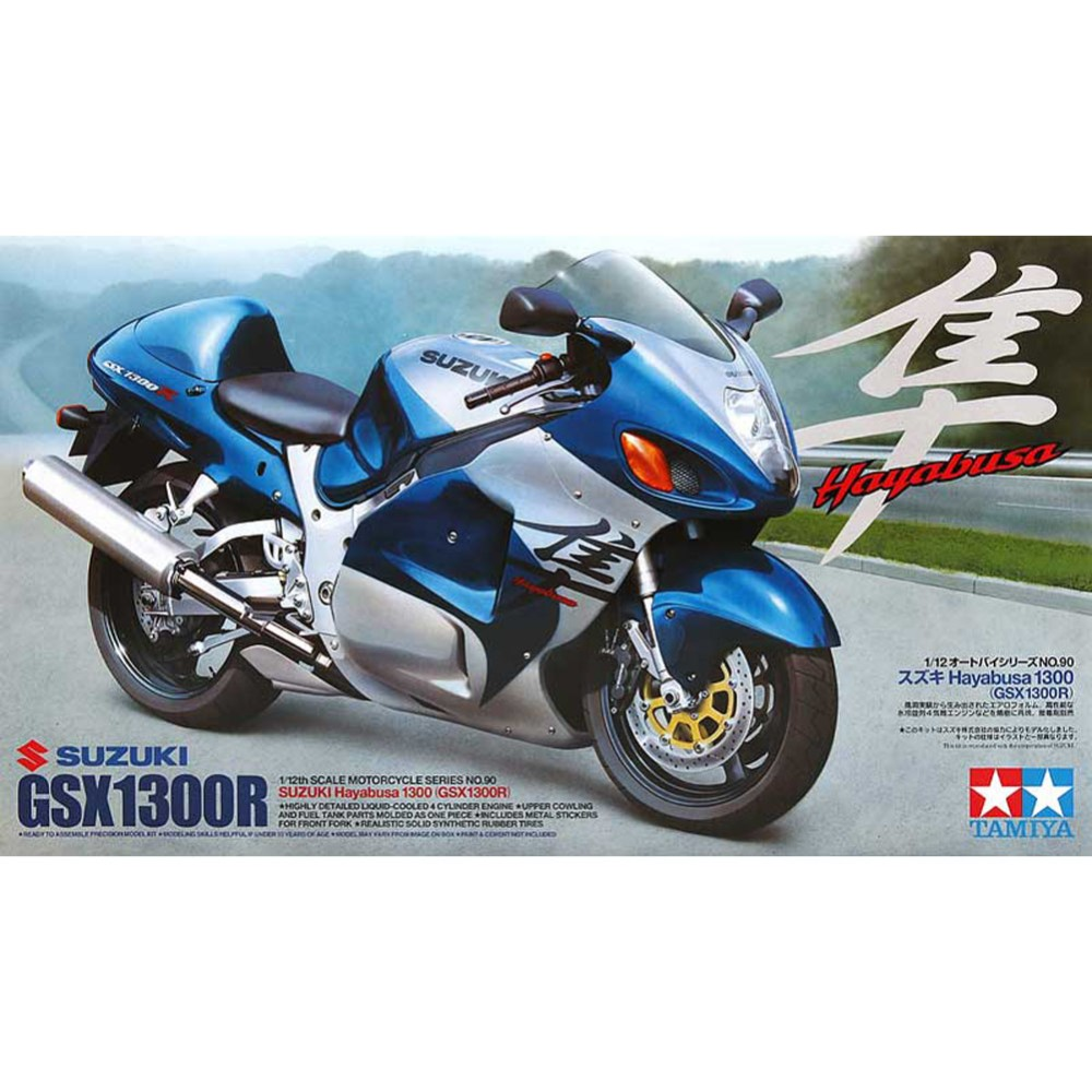 Tamiya 14090 Model Motorcycle Building Kits 1/12 Scale GSX1300R Hayabusa 1300 Assembly Toys For Children Kids And Adults