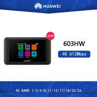 Sbloccato Huawei 603HW Pocket WiFi 4g mobile mini router wifi portatil repetidor wifi 5ghz 5g wifi router con slot per sim card