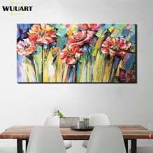 Ручная роспись цветок картина маслом на холсте абстрактное искусство
