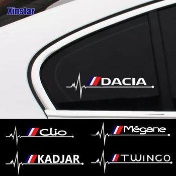 2pcs Car windows sticker for Renault Dacia Clio ZOE duster Megane TWINGO Logan KADJAR Car styling car tire valve caps case for renault duster megane 2 logan renault clio car badge 4pcs set