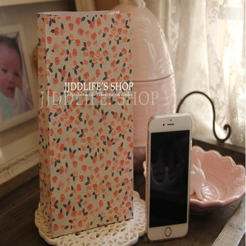 40pieces/pack Romantic retro French style floral storage bag book clothes storage free shipping
