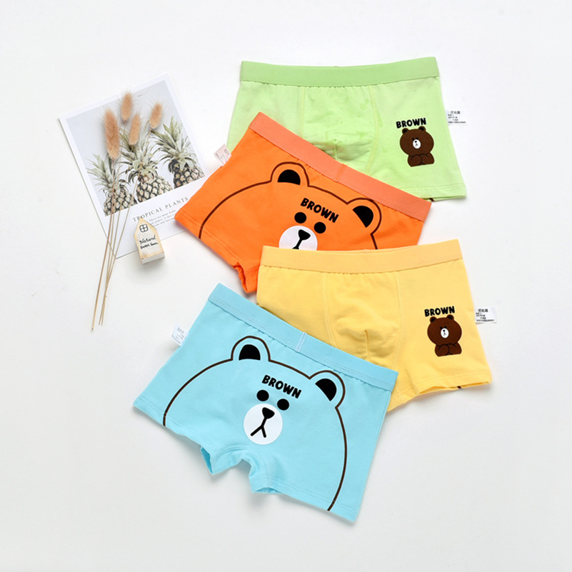 1Pcs Cotton Boys Underwear Boxer Briefs For Boy Kid Underwear Children Teenager Panties For 2-10years Cartoon Underpants