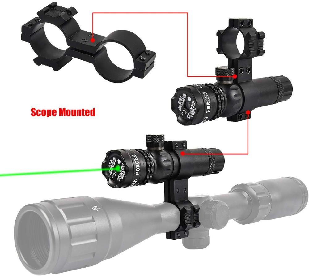 ajustável 532nm montagem ponteiro laser rifle arma