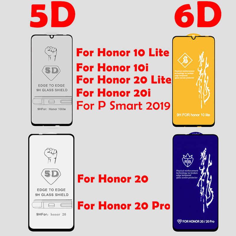 Vidro temperado para Protetor de Tela Huawei Honor 10 20 Lite Pro 10i de Proteção Completa para Huawei P Inteligente 2019 Z vidro de Segurança de proteção em Honra 10 20 Lite Lite Luz Pro 20 10 20i 10i de Vidro para